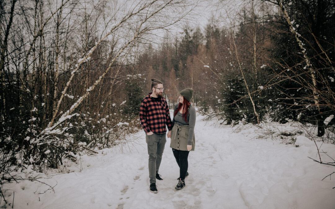 Paarbilder im Winter in Remscheid